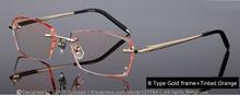 Известный дизайнер, очки без оправы, оправа, мужские стразы, очки, прозрачные линзы, антибликовое покрытие, по рецепту, очки для глаз, 641(Китай)