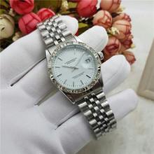 Роскошные женские автоматические механические часы с бриллиантами, модные наручные часы с ремешком из нержавеющей стали, Relogio Feminino(Китай)