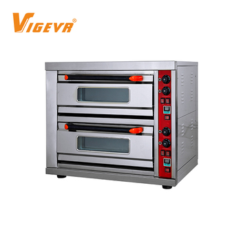 2 Deck 2 Trays Cake Bread Bakery Electric Gas Baking Industrial Horno Pizza Oven
