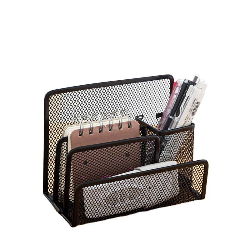 2020 hot sell Letter storage organization box metal mesh Multifunctional storage pen container