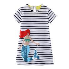 Платье для маленьких девочек, летнее двустороннее платье с блестками, костюм принцессы, Детские праздничные платья с изображением животных...(Китай)