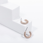 Stone Hoop Hot Trend New Arrival Fashion Personality Wholesale High Quality Jewelry Geometry C Shape Crystal CZ Stone Hoop Earring