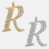 R - 18k gold or rhodium