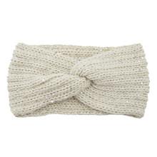 Новая модная женская зимняя вязаная повязка на голову с бантиком, теплые мягкие однотонные аксессуары для волос, наушники, повязка на голов...(Китай)