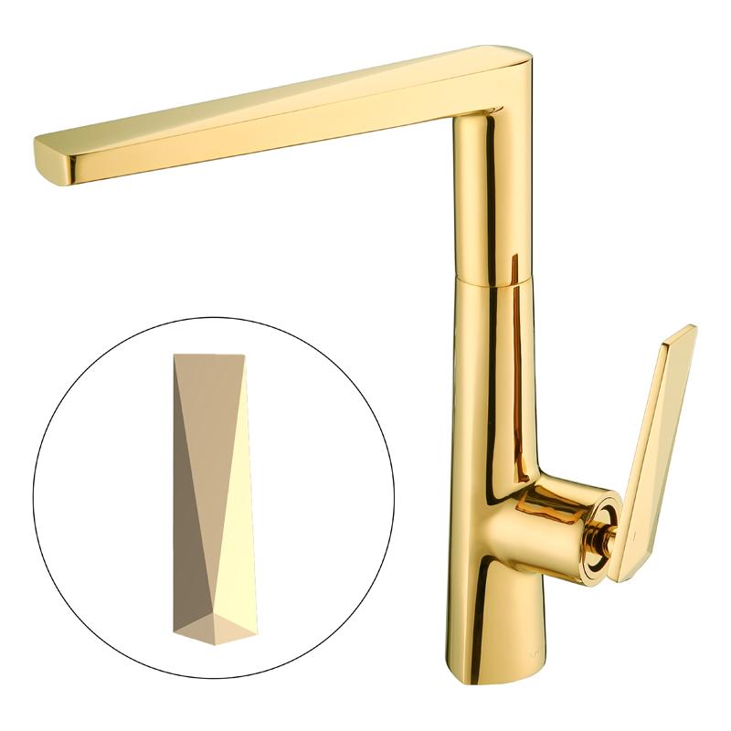 Латунный золотой смеситель для кухонной раковины от производителя Kaiping