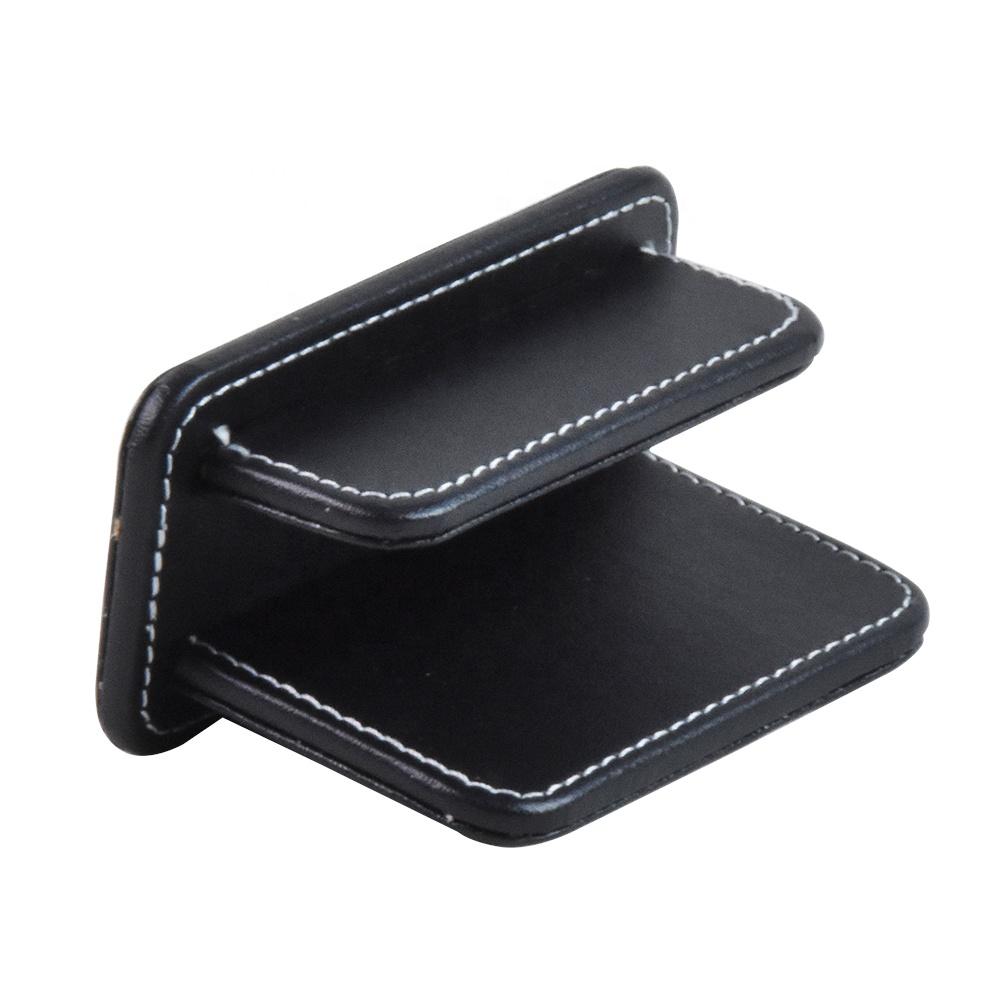 wholesale high quality office black leather desk organizer holder