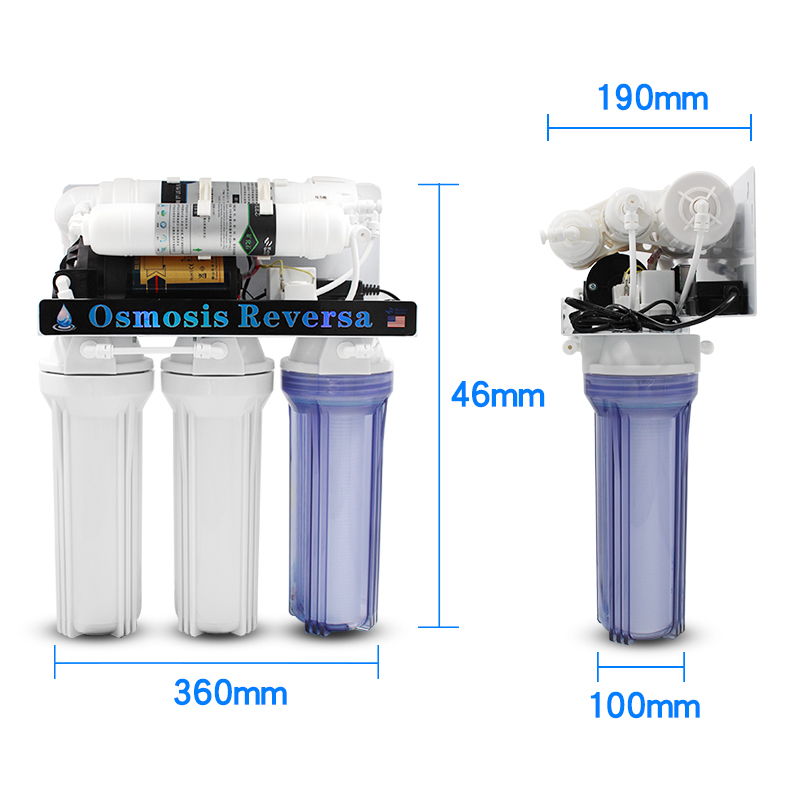 China Home Best Water Filter 7 stage 75 100 200 GPD Purifier RO Reverse Osmosis Systems