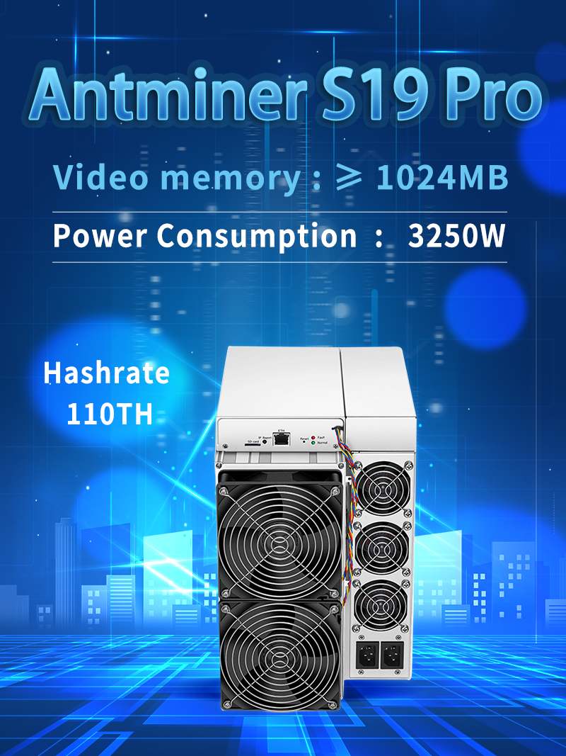 Fast Shipping Blockchain ASIC Antminer S19 Pro 95T 110TH 3250W BTC Bitmain SHA-256 Miner With PSU
