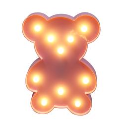 10L warm white LED  Bear plastic ball light for holiday or kid room neon light