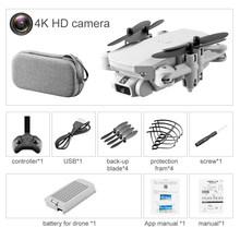 Мини RC Дрон w/ 4K 1080P HD камера WiFi FPV беспилотный, воздушный вертолет для фотографии складной светодиодный светильник Квадрокоптер пульт дистан...(Китай)