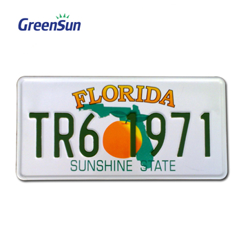 Business Gift special license plate with foil