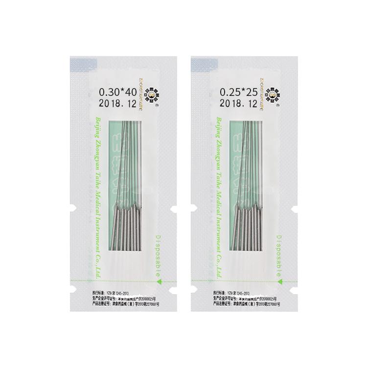 Стерильные Акупунктурные Иглы Zhongyan Taihe, бесплатные образцы, полноразмерная одноразовая безболезненная сухая игла