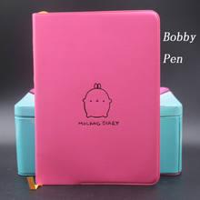 """1 шт. """"Molang Rabbit"""", милый ежемесячный недельный планер из искусственной кожи, журнал органайзера, Дневник для ноутбука, офисные и школьные принад...(Китай)"""