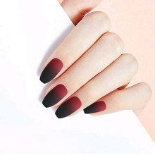 24 шт Съемные накладные ногти длинные ногти короткие ногти накладные ногти дизайн удлиненный дизайн ногтей естественное полное покрытие но...(Китай)