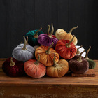Home Decor Ornament Velvet Pumpkin Halloween Silk Velvet Pumpkin