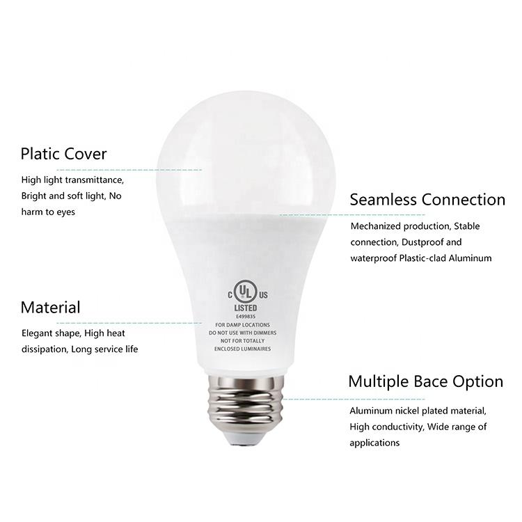 9 Watt Emergency Bulb Rechargeable Light  E26 B22 E27 Battery Operated LED Light Bulb For Home