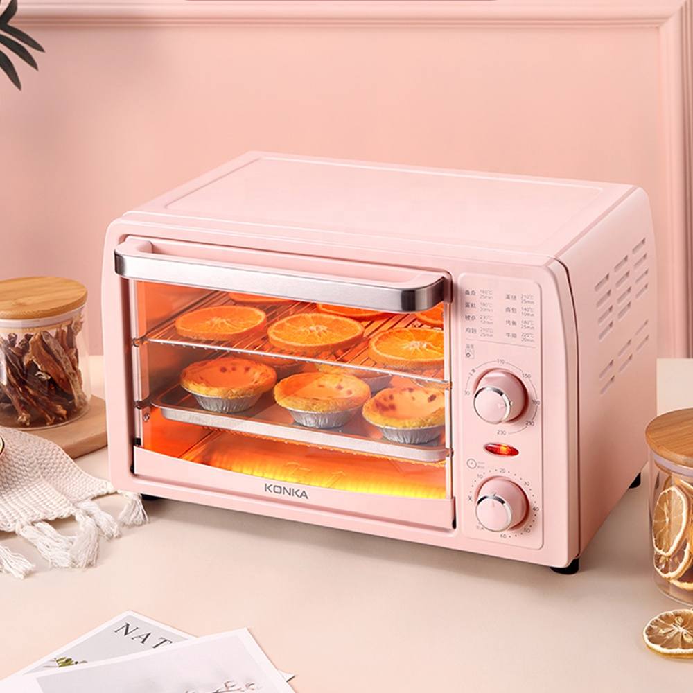 New Multifunctional Household Oven Pink Household Oven Appliance