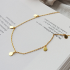 Color Pendant Necklace Pendant Yttria 2 Color Simple Style Cute Circle Dot Pendant Necklace Jewelry For Women Charms Choker