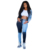 Patchwork Skinny Straight Leg Elasticity Jeans Woman High Waist Denim Trousers Sexy Color Block Vintage Blue Streetwear Pants