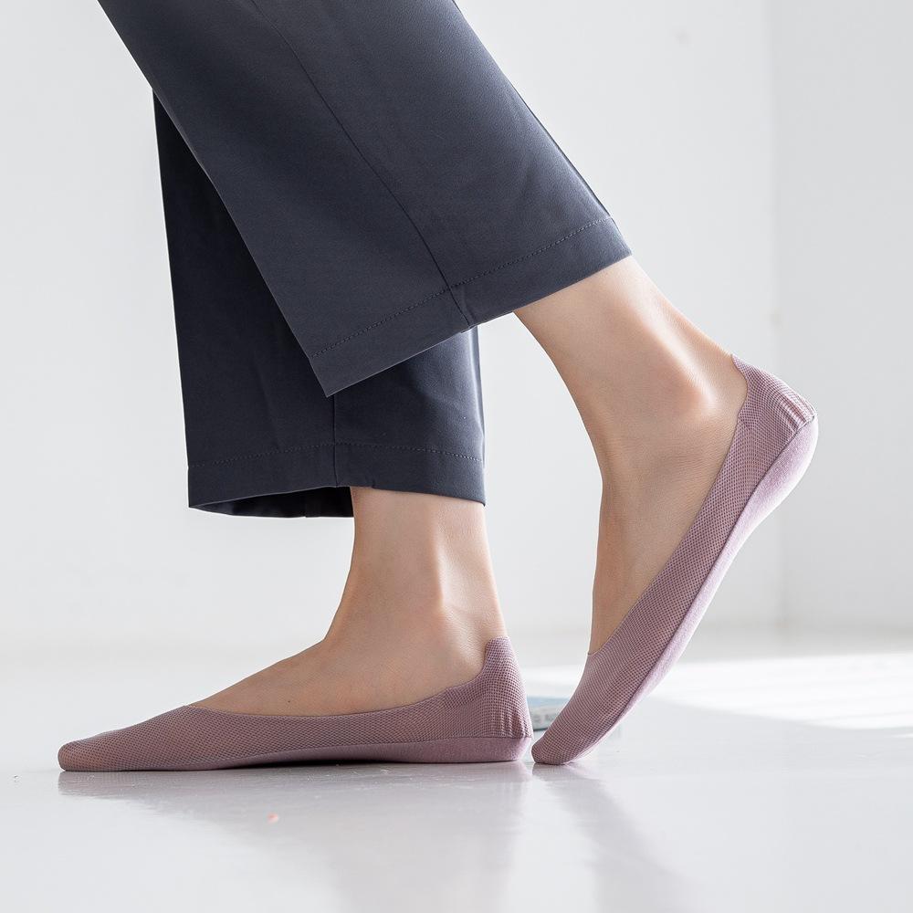 Новые стильные однотонные женские невидимые носки Макарон на весну-лето