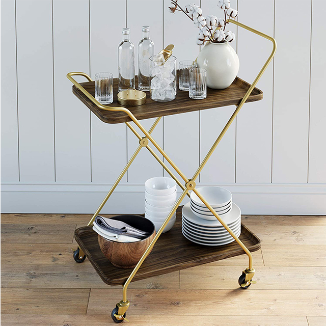 Commercial Hotel Kitchen Serving Tool Cart Food Service Trolley