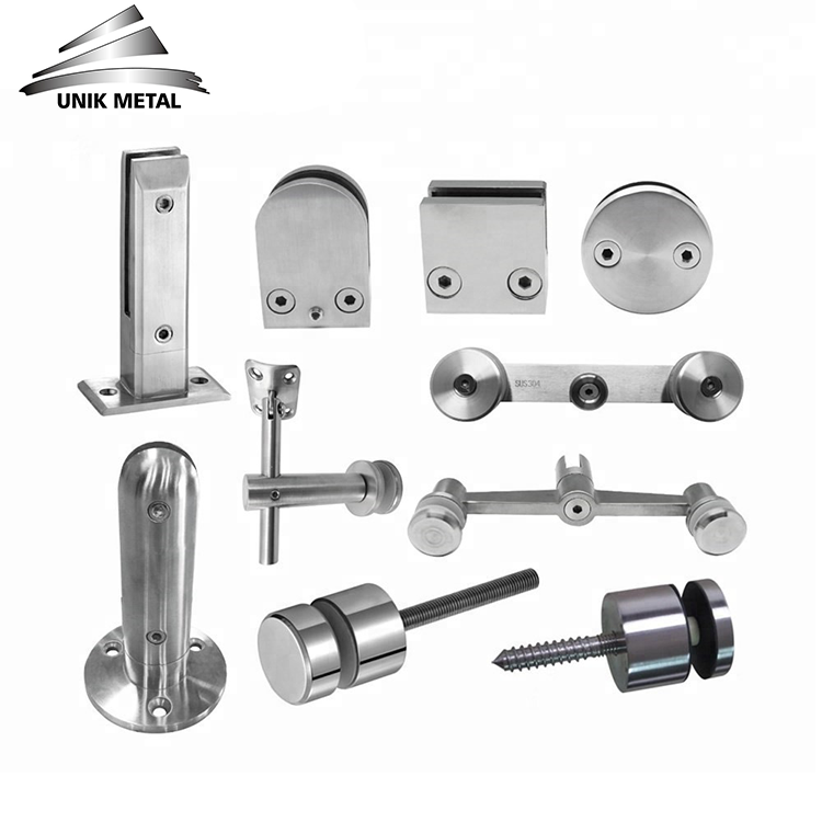 304 316 pipe balustrade fence post panel wall mounted stainless steel handrail bracket glass railing hardware