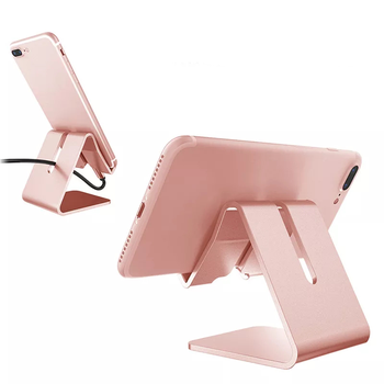 Cell phone Tablet Universal multi-functional Desktop Metal Charging Stand Aluminum Alloy Portable hands free Phone Holder