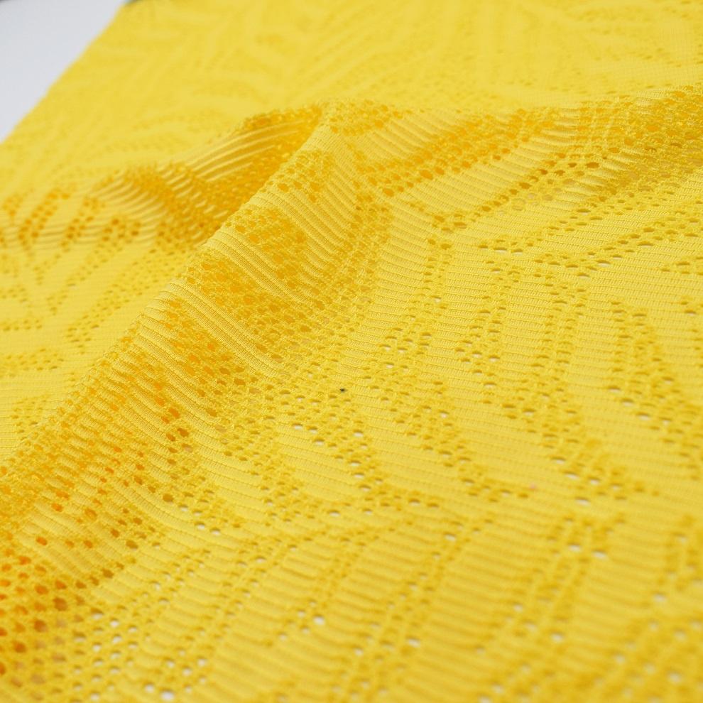 92%polyester 8%spandex flowery design knitted mesh fabric for swimwear dress bikini