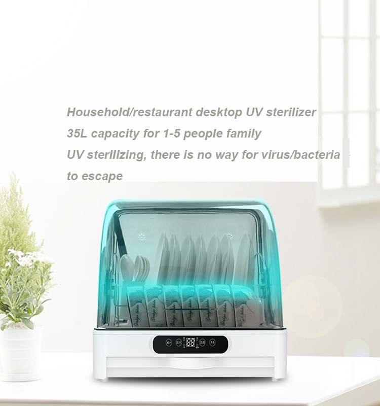 Hot Selling 35L 250W Multi Function Baby Bottle UV Sterilizer Dish Disinfection cabinet with Dryer