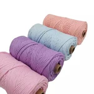2mm to 8mm 100meter Cotton Macrame cord makramee garn 100% Cotton Macrame Rope for Decor Craft