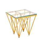 Antique Table Gold Antique Mirror Glass Ethiopian Tradtional Table Glass Gold Coffee Very Cheap Bar Living Room Coffee Table 1 Piece Leg