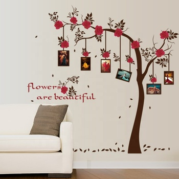 SK9086 Room Wall Decal Rose Family Tree Photo Frame Wall Stickers