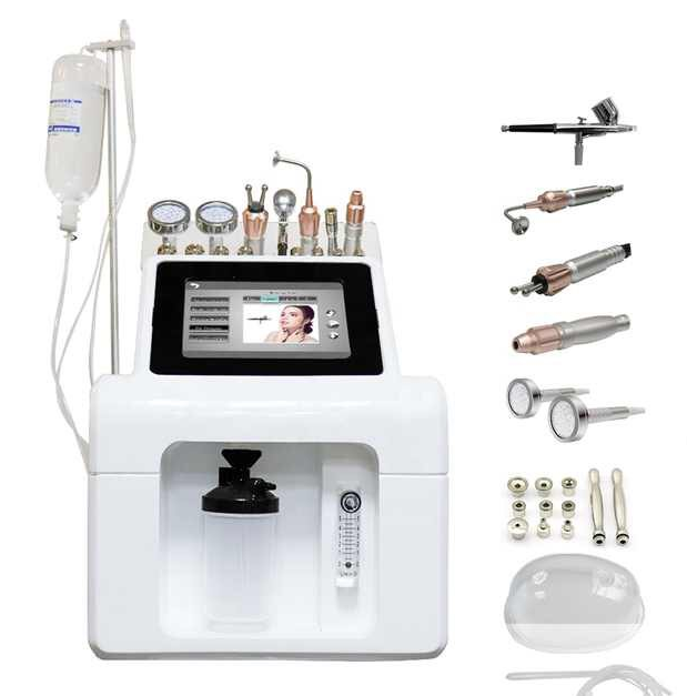 9 IN 1 Hydra Dermabrasion Beauty Machine H2O2 Water Oxygen Small Bubble Peeling Cleansing Facial Care Beauty Equipment