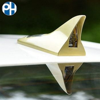 Car Auto 6 Colors Roof Special TV/Radio FM Solar Powered LED Shark Fin Antenna Universial