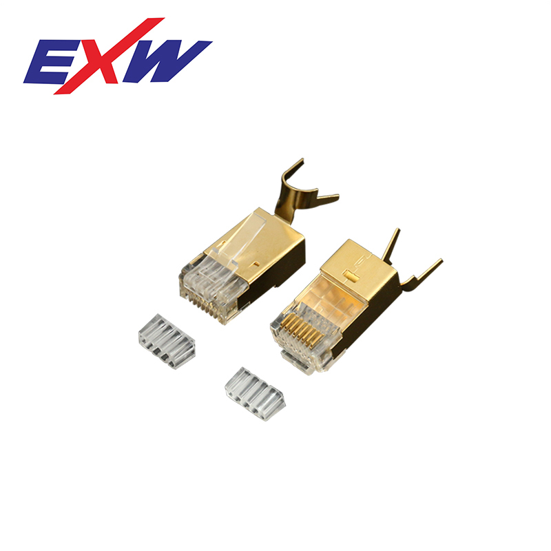 Professional EXW High Quality Cat6A outdoor RJ45 Connector Plug Shielded with Tail