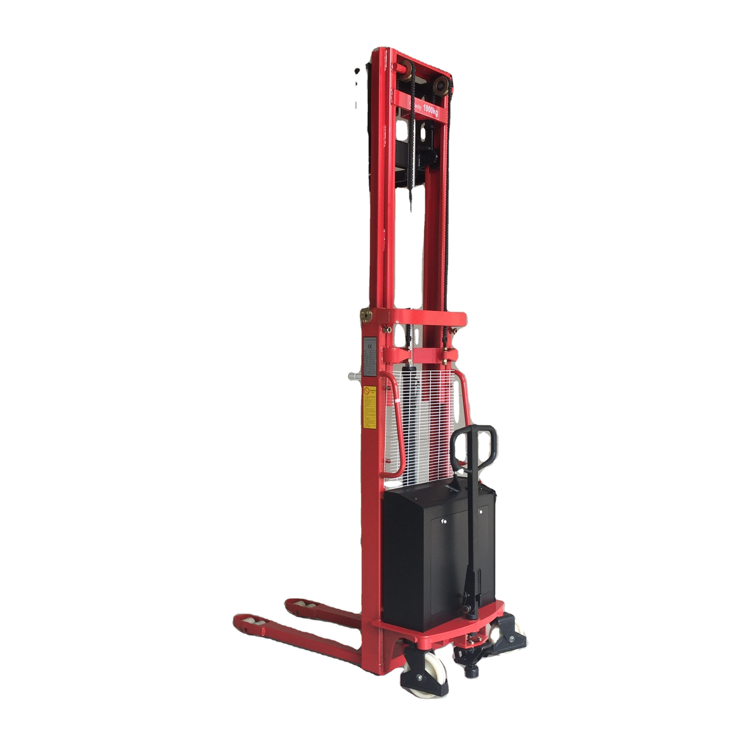 material handling equipment 1.5ton semi electric battery stacker with higher quality
