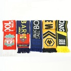 Wholesale Scarf Fan High Quality Wholesale Customized Oeko-tex Recycled Double Side Fan Acrylic Knitted Sports Soccer Club Football Scarf
