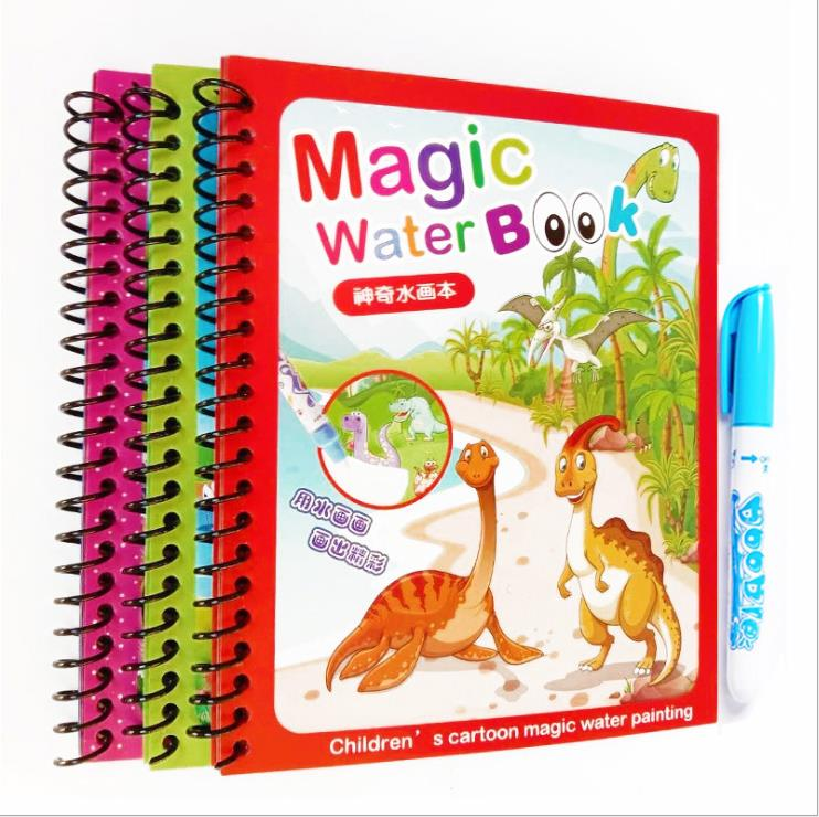 Cheap Wholesale Doodler Drawing Coloring Magic Water Book with Pen