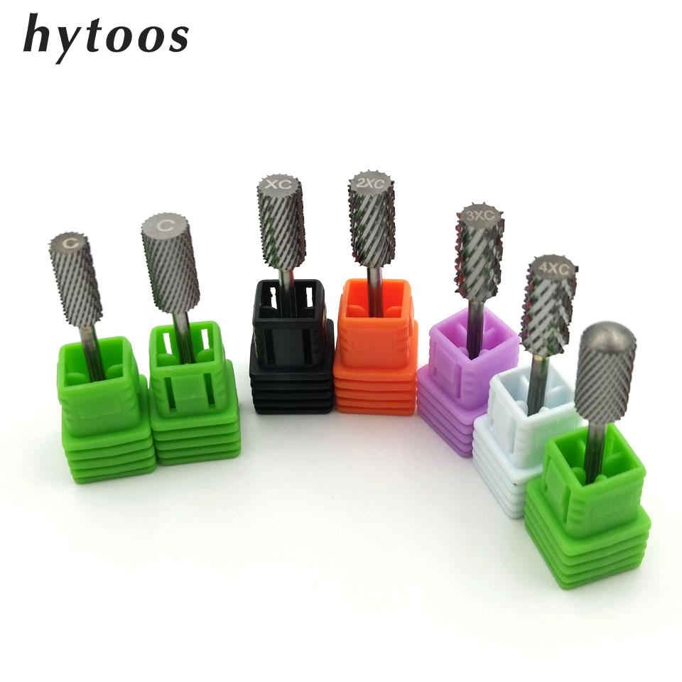 HYTOOS 7 Size Barrel Carbide Nail Drill Bits 3/32\