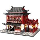 Toys Famous CHINA ANCIENT HOTEL Building Block Toy Game for Kid