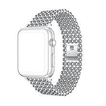 Браслет link из нержавеющей стали, ремешок для apple watch, 40 мм/44 мм/42 мм/38 мм, ремешок iWatch, 5, 4, 3, 2, 1, металлический ремешок для часов для женщин(Китай)