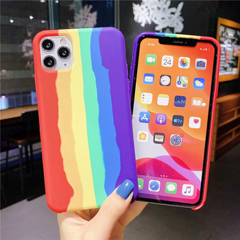 For Iphone 11 Pro Max colorful Phone Case Silicone Accessories Luxury Fashion Rainbow Phone Case For Iphone 11