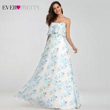 Женское пляжное платье Ever Pretty, элегантное ТРАПЕЦИЕВИДНОЕ вечернее платье с цветочным принтом, длинное летнее платье в стиле бохо, EP07242(Китай)