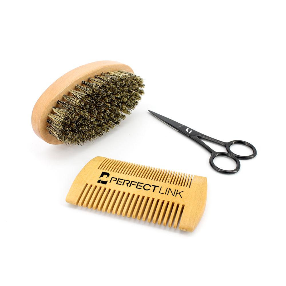 Фирменная торговая марка, 100% натуральный мужской уход за маслом, воск, набор для ухода за бородой с сандаловым деревом, органическое масло для бороды