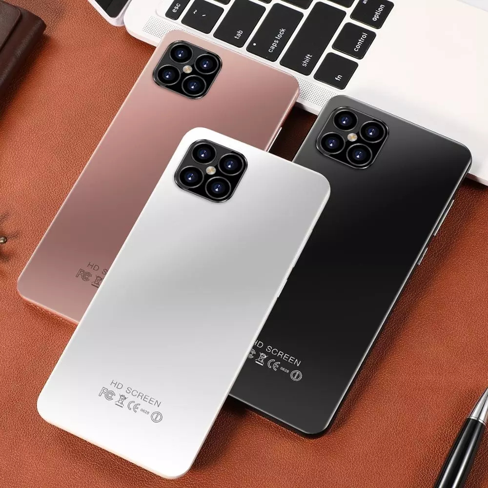 i12 Pro+ 6.1 inch Android Smartphones 8GB+256GB 10-Core 5G LET Cellphones 4 Camera MTK6889 Face ID Unlock Dual SIM Mobile Phone