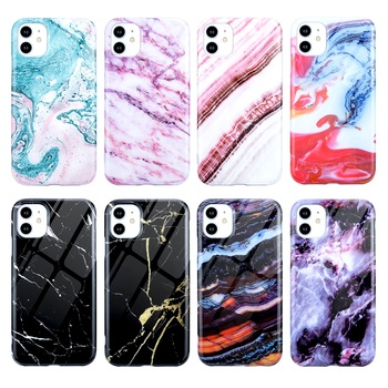 New Style IMD Printing Marble Grain Elastic TPU Fashion Grip Phone Case for iPhone 11 12 Back Cover 2020