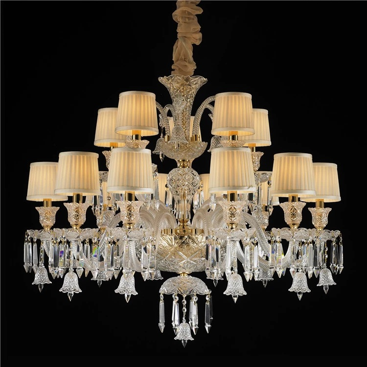 MEEROSEE Crystal Chandelier Luxurious Classic Chandelier Light Baroque Style Light MD87120