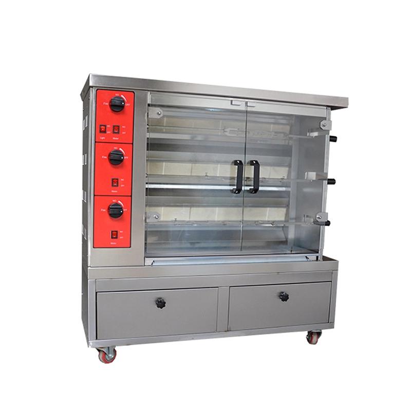 4 Rods Gas Chicken grill machine Rotisserie Chicken Machine Gas Oven Hot Sale Good Price