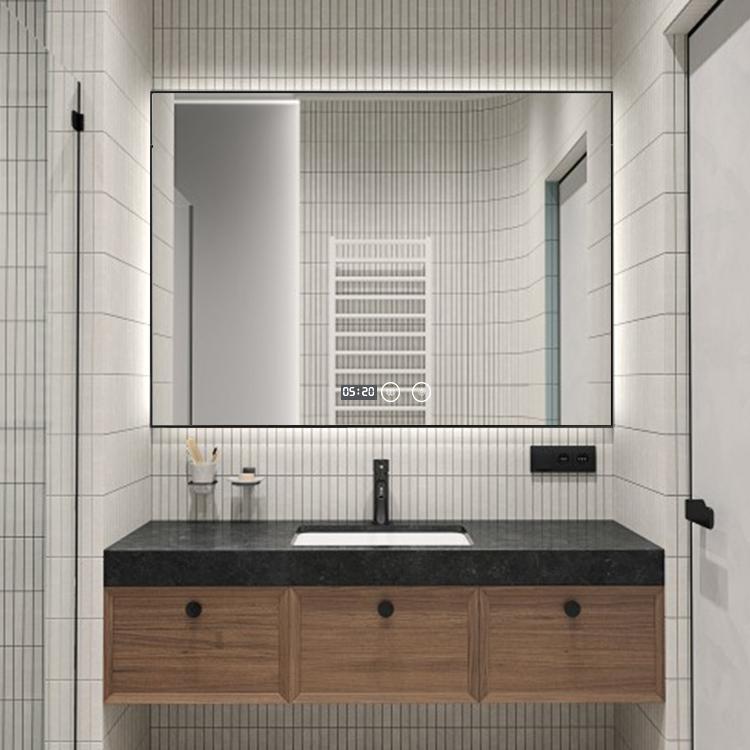 2021 Villa Hotel Modern Decorative Wall Bathroom Led Mirror With Frame Smart Mirror Black Golden Silver Buy Smart Mirror Decor Wall Mirror Led Mirror Smart Mirror With Aluminum Frame Mirror Bathroom Mirror Product