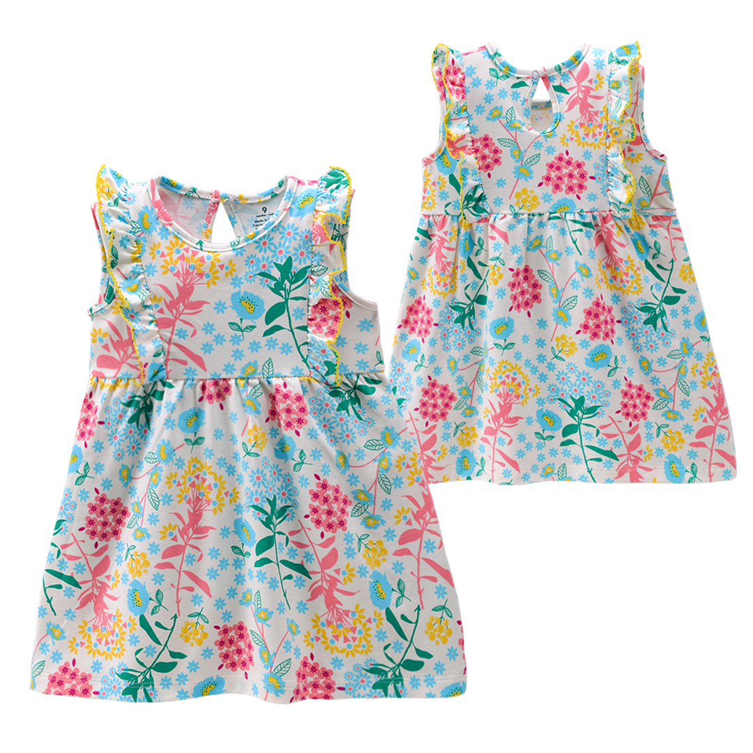 F041-F059 Summer Casual A-Line baby girl floral dress 0-3 years old Baby dress For Girl